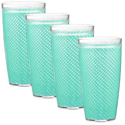 Fishnet 22 Oz Limpet Shell Doublewall Drinkware Set/4