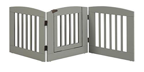 Ruffluv 3 Panel Expansion Pet Gate with Door - Medium - 24