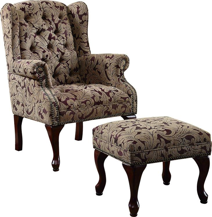 Coaster Queen Anne Light Brown Accent Chair