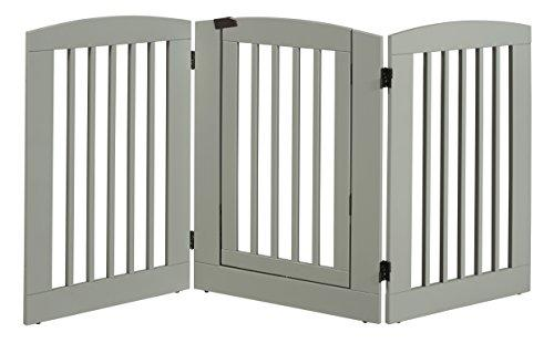Ruffluv 3 Panel Expansion Pet Gate with Door - Large - 36