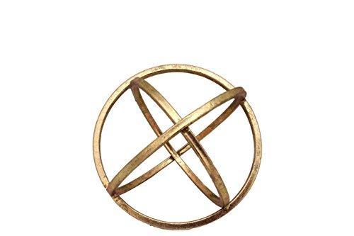 UTC39508 Metal Orb Dyson Sphere Design SM Rust Finish Antique Gold