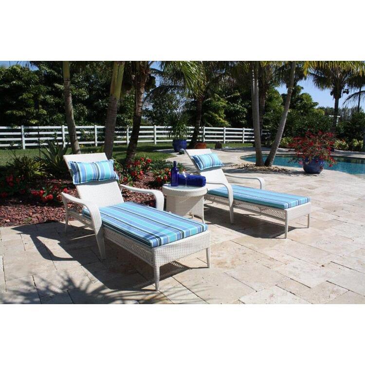 Grenada Patio 3 Piece Chaise Lounge Set, Finish Whitewash