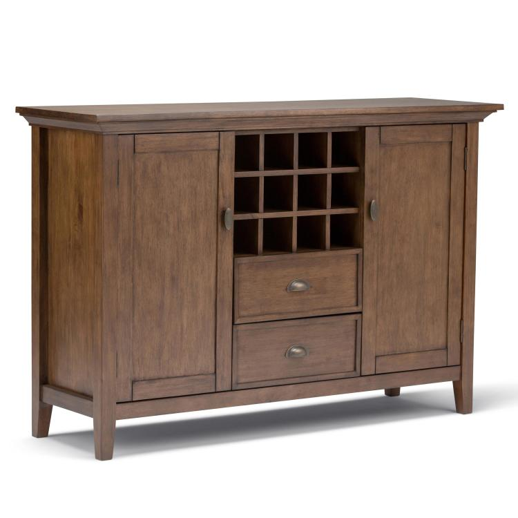 Simpli Home Redmond Sideboard Buffet & Winerack