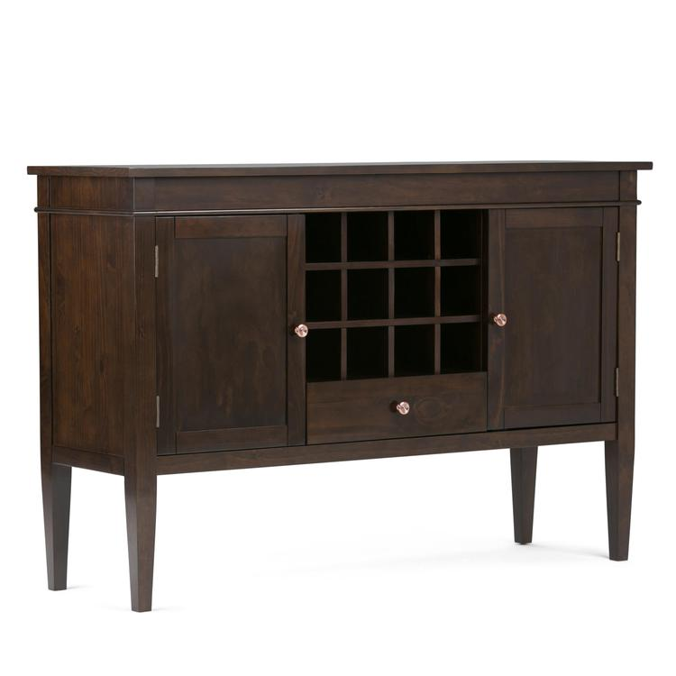 Simpli Home Carlton Sideboard Buffet & Wine Rack