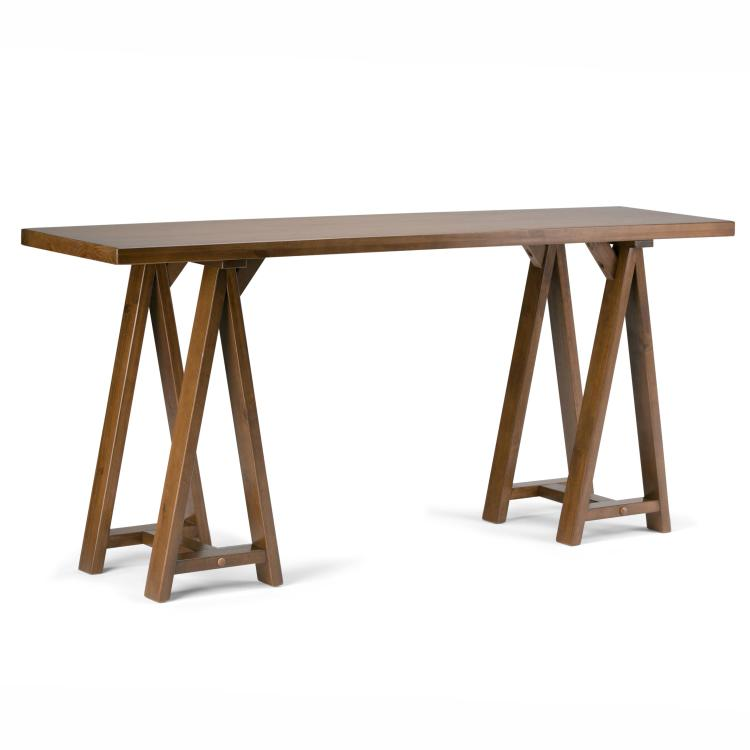 Simpli Home Sawhorse Wide Console Sofa Table