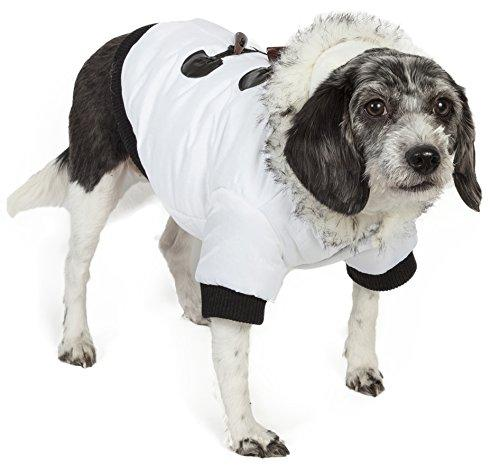 Aspen Winter-White Fashion Pet Parka Coat