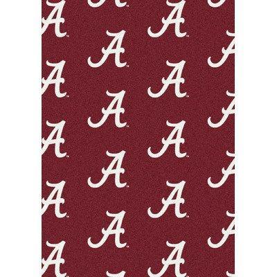 College Repeating Alabama Area Rug