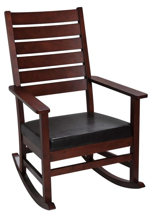 Mission Style Adult Rocking Chair with Upholstered Seat [Item # 4000C]