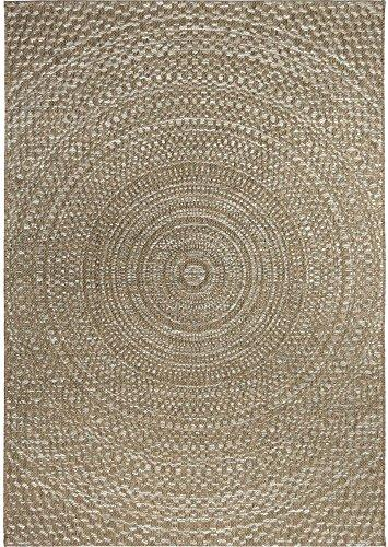 Orian Rugs Indoor/Outdoor Circles Cerulean Gray/ Brown Area Rug (5'1