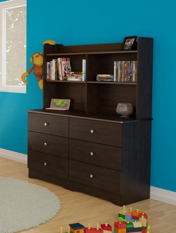 Nexera Pocono Double Dresser  Hutch BUNDLE #400584