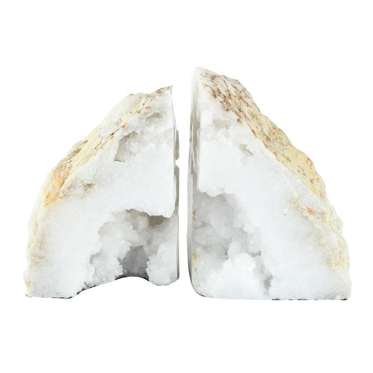 A&B Home Natural Geode Bookends