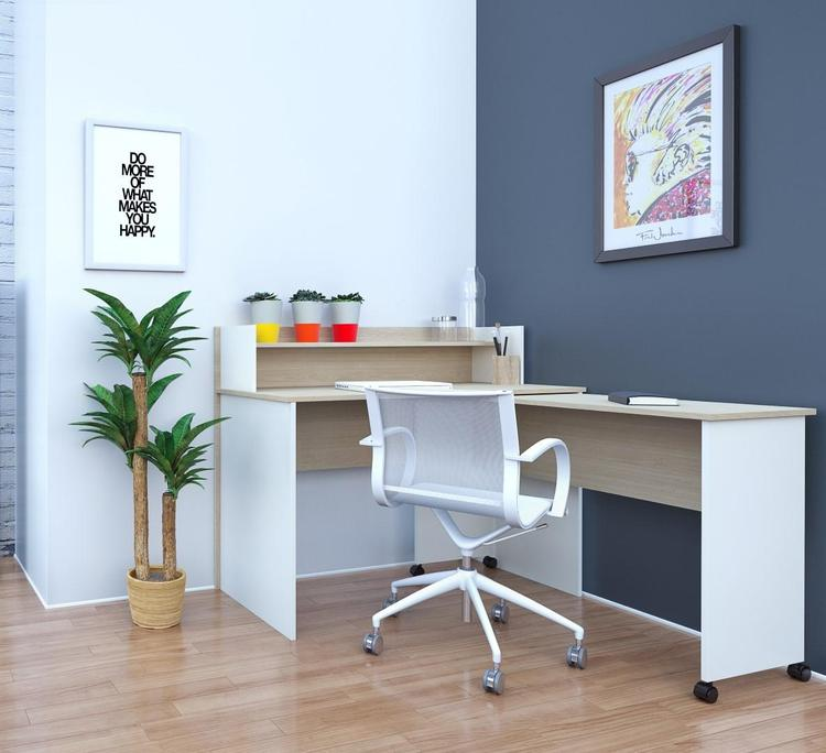 Atelier Home Office Kit with 48-inch Desk & Hutch with Mobile Work Surface