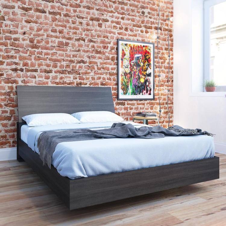 Nexera Full Size Platform Bed Set Bundle #400757, Ebony