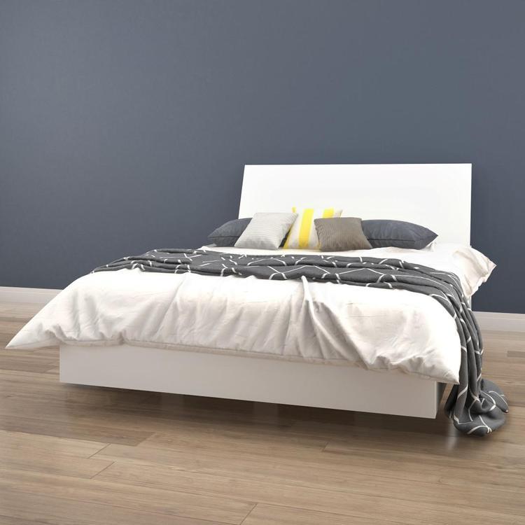Nexera Full Size Platform Bed Bundle #400783, White