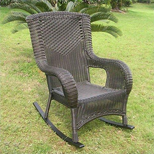 International Caravan San Tropez Resin Wicker Rocker [Item # 4007-1CH-AB]