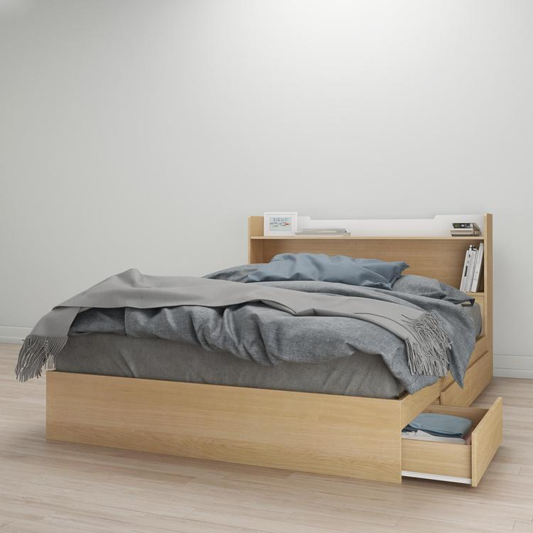 Nexera Nomad Queen Size Bed Bundle #400947 [Item # 400947A]