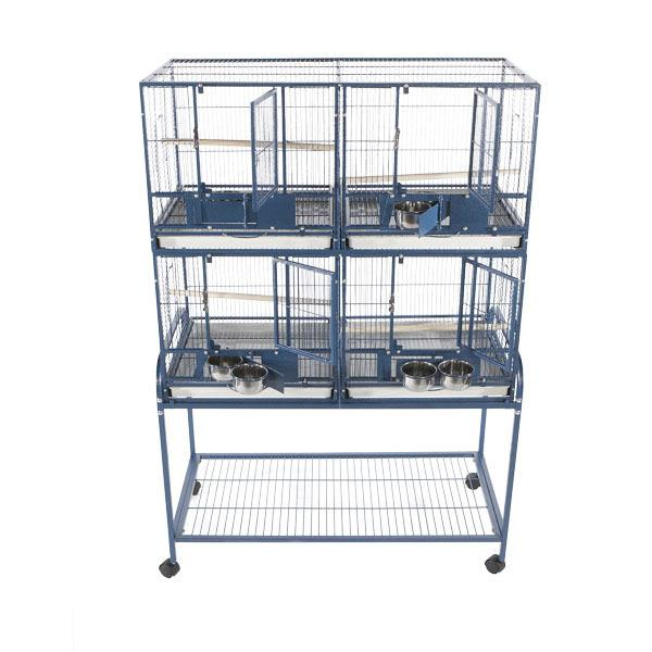 4 Unit Cage with Stand and Removable Divider