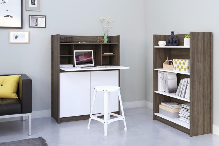 Chrono Home Office Set #402171 from Nexera, Bark Grey & White