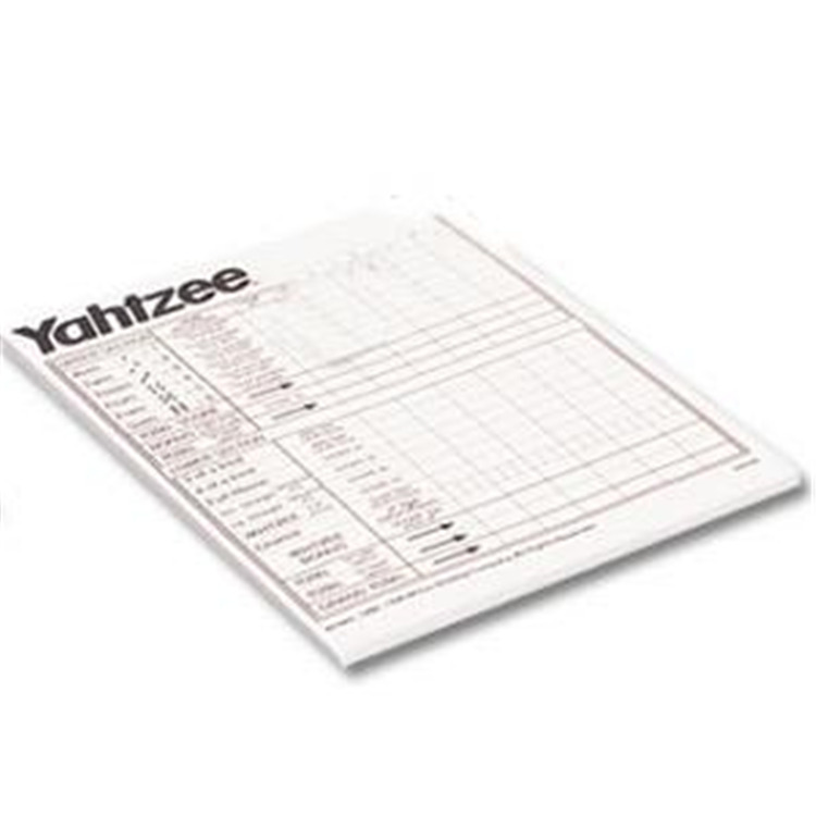 Milton Bradley Yahtzee Score Pads