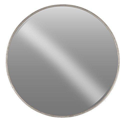 UTC40783 Metal Round Wall Mirror XL Tarnished Finish Antique Silver