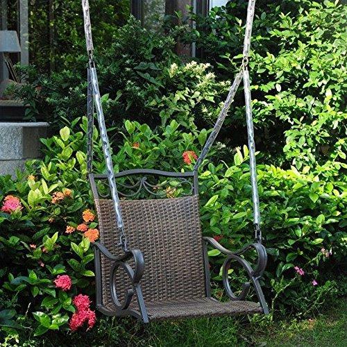 International Caravan Valencia Resin Wicker/Steel Chair Swing