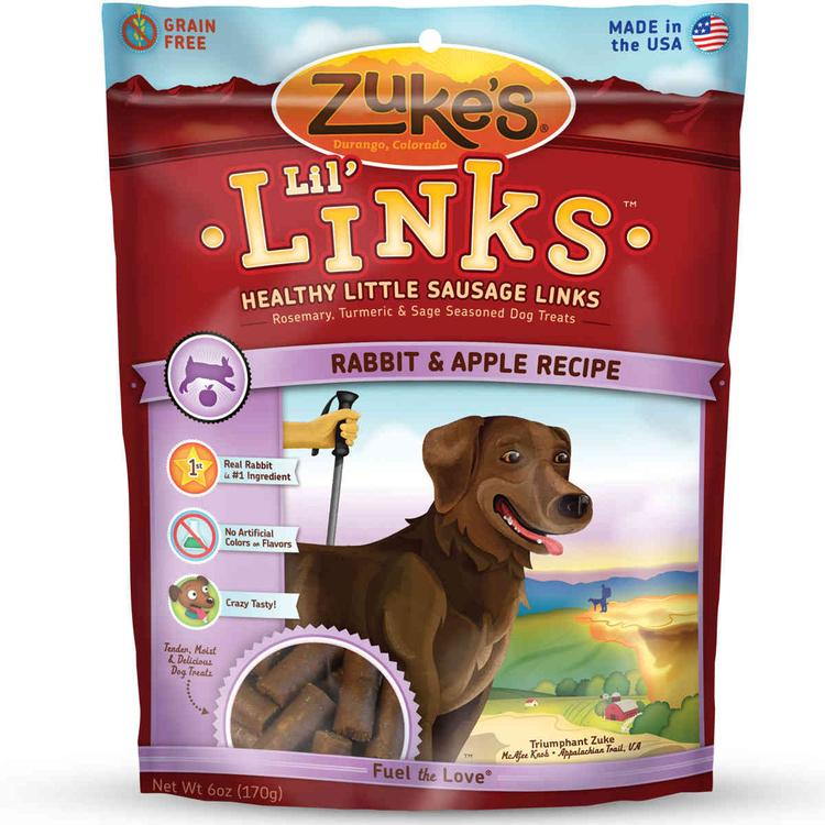Lil' Links Healthy Grain Free Little Sausage Links For Dogs Rabbit And Apple