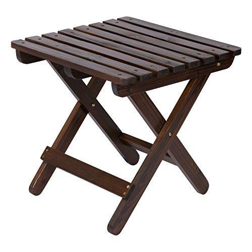 Adirondack Square Folding Table - Burnt Brown