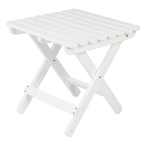 Adirondack Square Folding Table - White