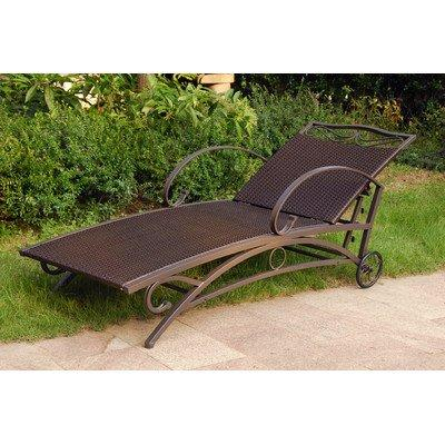 International Caravan Valencia Resin Single Chaise Lounge