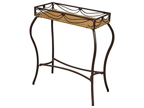 Valencia Resin Wicker/Steel Rectangular Plant Table