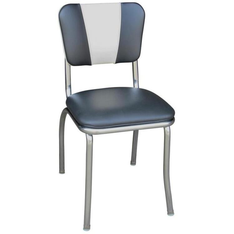 V-Back Diner Chair with Stripe with 1