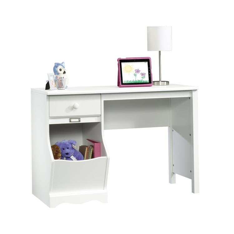Sauder Pogo Desk for Children, Soft White Finish [Item # 414435]