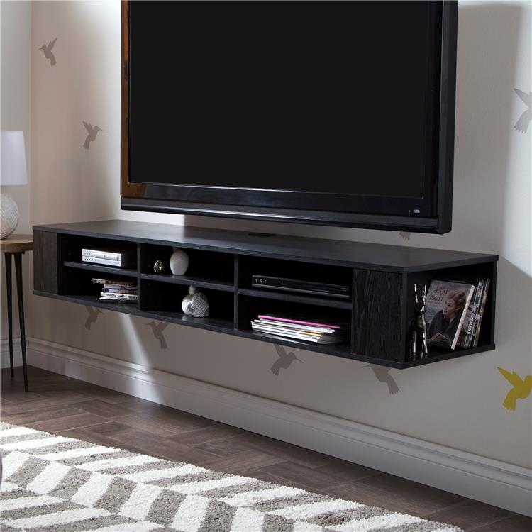 South Shore City Life Wide Wall Mounted Media Console