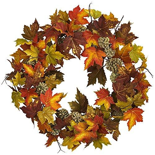 24? Maple and Pine Cone Wreath