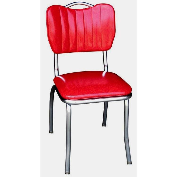 Richardson Seating Handle Back Diner Chair with Single Tone Channel Back and 1
