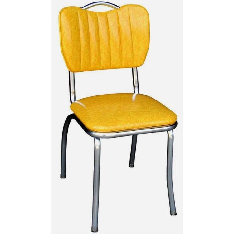 Handle Back Diner Chair with Single Tone Channel Back and 1