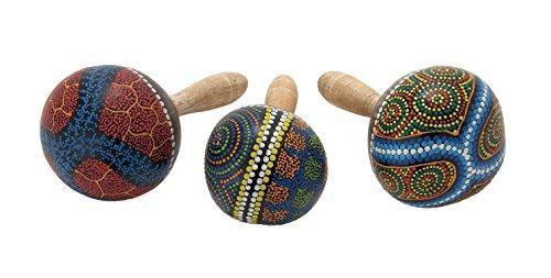 Wood Coco Maracas 3 Assorted