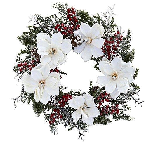 22? Snowed Magnolia & Berry Wreath