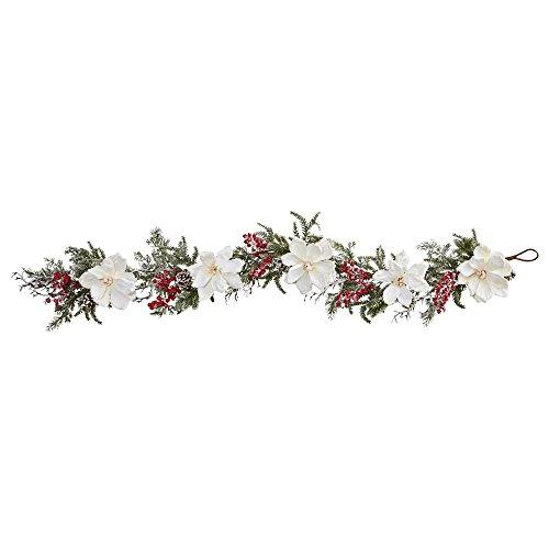 60? Frosted Magnolia & Berry Artificial Garland