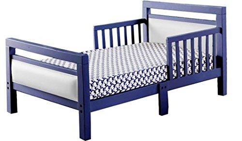The Orbelle Cambridge Blue Frame with White Padded Toddler Bed