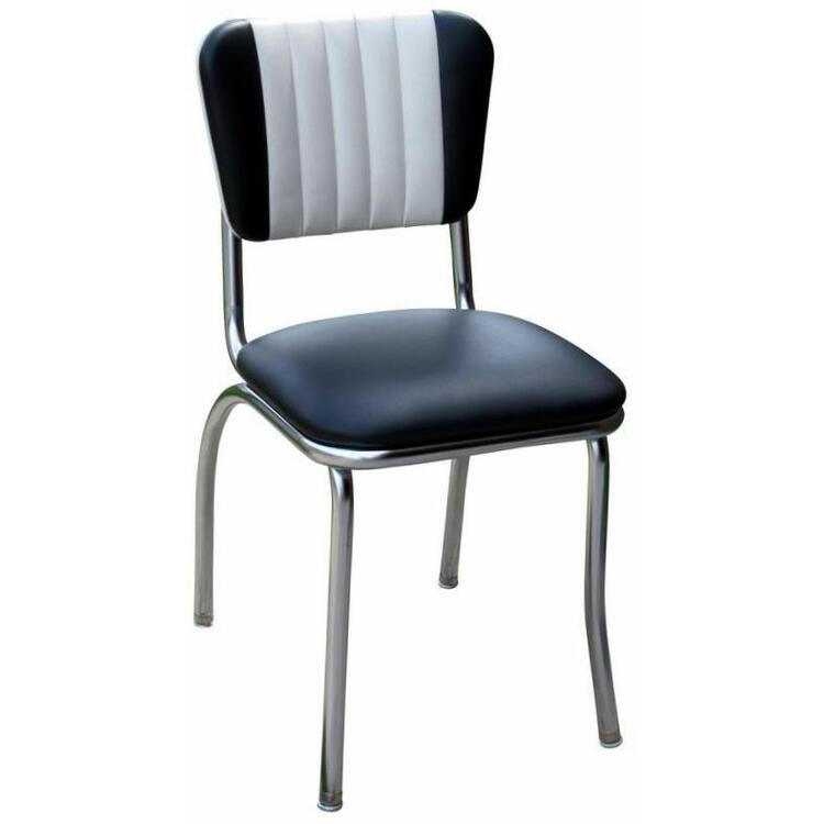Dual Tone Channel Back Diner Chair with 1