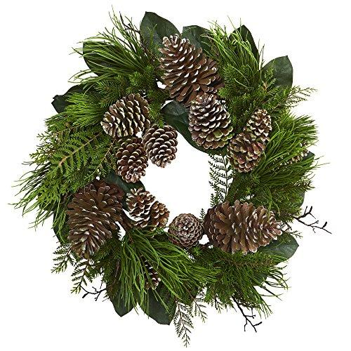 28? Pine Cone and Pine Artificial Wreath