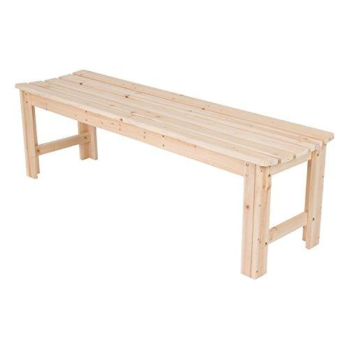 5 Ft. Backless Garden Bench - Natural