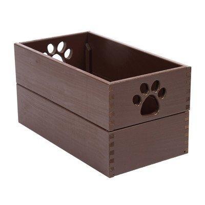 Pet Toy Box - Mahogany