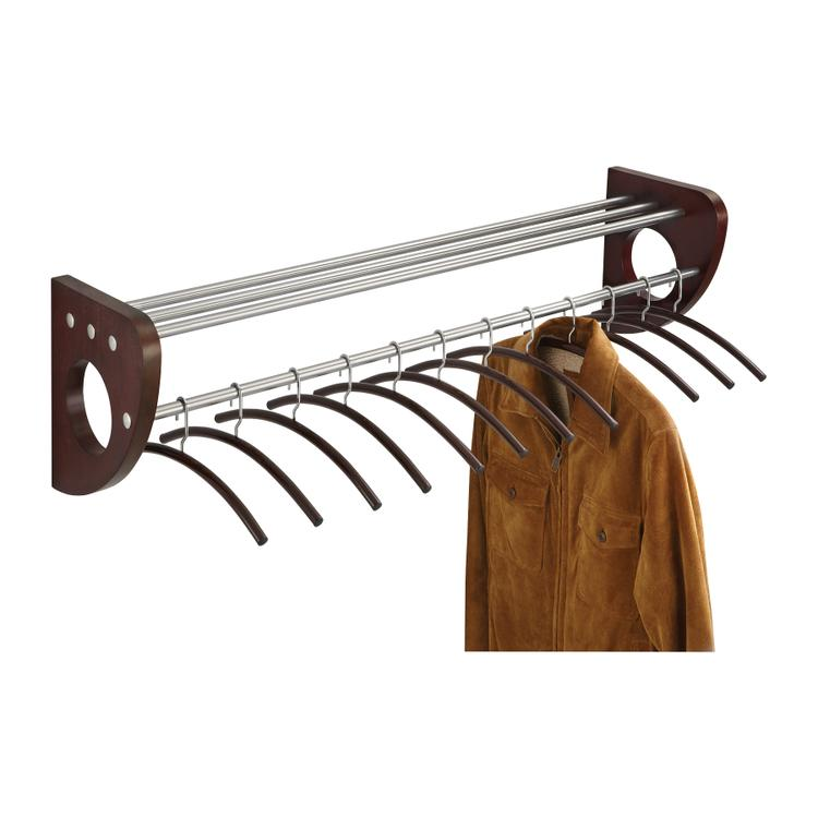 Mode™ Wood Wall Coat Rack with 12 Hangers, 48