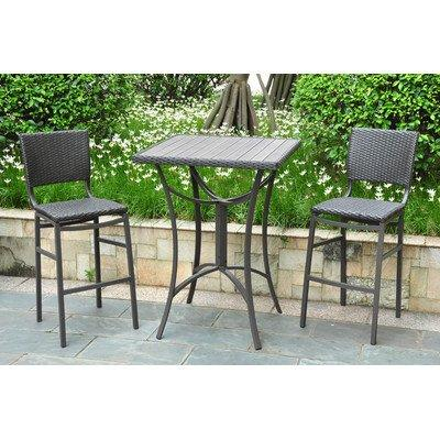International Caravan Barcelona 3 Pc Patio Pub Set