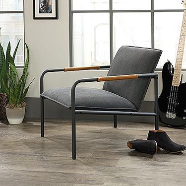 Sauder Boulevard Cafe Metal Lounge Chair 3a