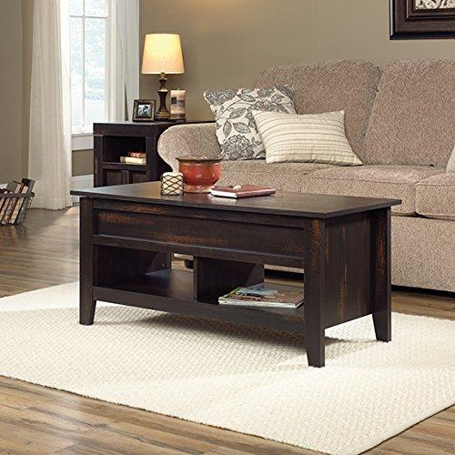 Sauder Dakota Pass Lift Top Coffee Table, Char Pine Finish   [422592A]
