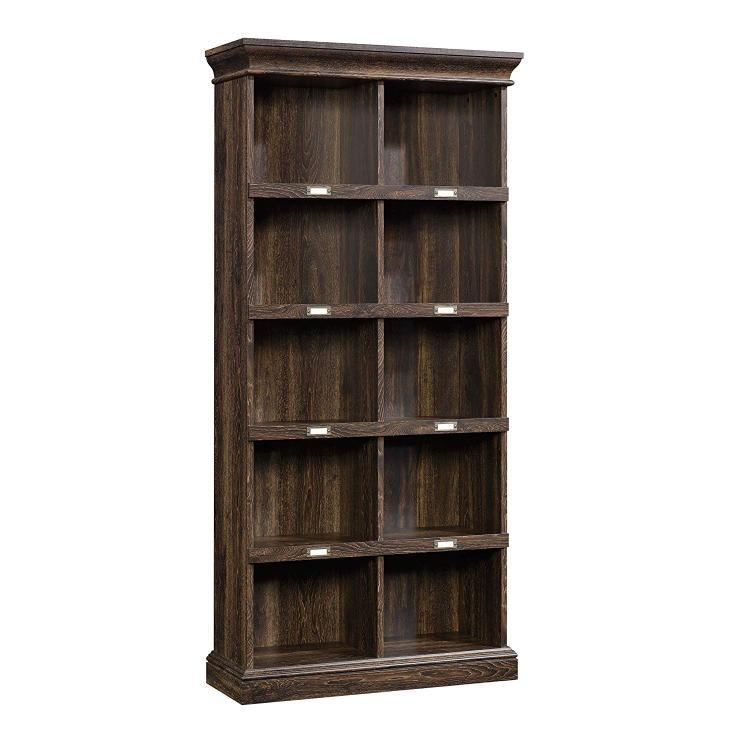 Sauder Barrister Lane Tall Bookcase, Iron Oak Finish