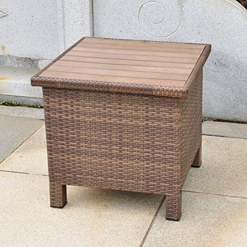 International Caravan Barcelona Aluminum/Resin Side Table [Item # 4252-ST-ABN]